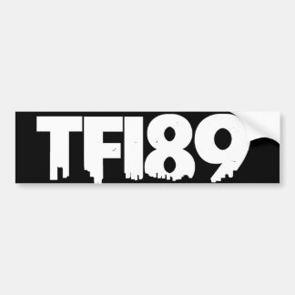 TFI89 Bumper Sticker B&W