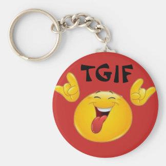 TGIF Emojis Key Ring