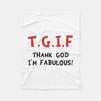 TGIF Fabulous Fleece Blanket
