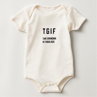 TGIF - This Grandma is Fabulous Baby Bodysuit