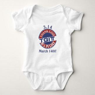 TGIPi  Thank God Its Pi Day 3.14 Red/Blue Logo Baby Bodysuit