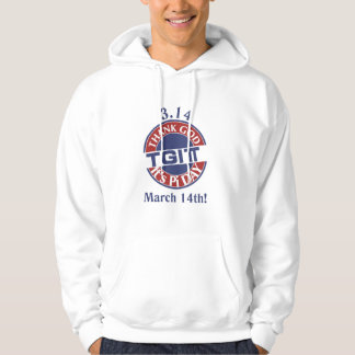 TGIPi  Thank God Its Pi Day 3.14 Red/Blue Logo Hoodie