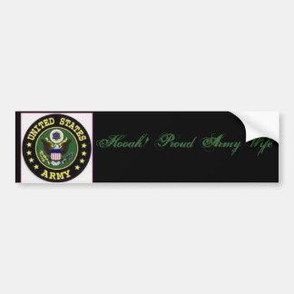 th_army20logo Hooah Proud Army Wife Bumper Sticker