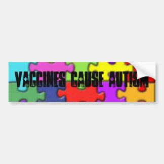 th_autism1, Vaccines Cause Autism Bumper Sticker