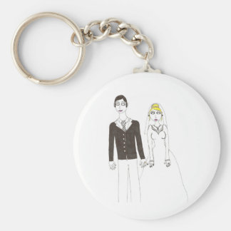 Th creepy wedding 2 basic round button key ring