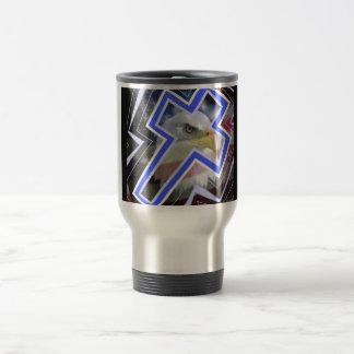 Th Cross and the American Symbols Coffee Mugs