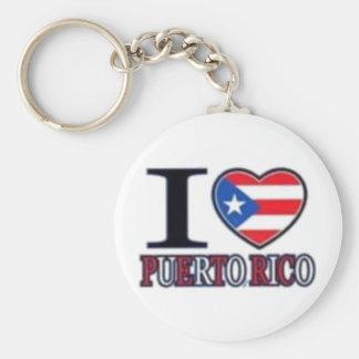th_puertorico basic round button key ring