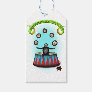 tha amazing hedgehog juggling sloth gift tags