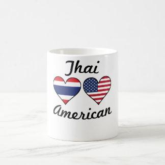Thai American Flag Hearts Coffee Mug