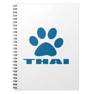 THAI CAT DESIGNS NOTEBOOKS