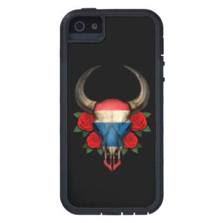 Thai Flag Bull Skull with Red Roses iPhone 5 Cases