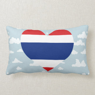 Thai Flag on a cloudy background Pillows