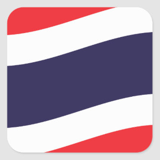 Thai Flag Wave Square Sticker