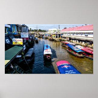 Thai Floating Market Poster
