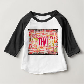 Thai Food and Cuisine Menu Background Baby T-Shirt