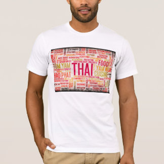 Thai Food and Cuisine Menu Background T-Shirt