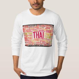 Thai Food and Cuisine Menu Background T-Shirt