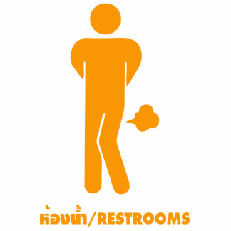 THAI FOOD CAN BE SPICY ⚠ Funny Sign Restrooms ⚠ Acrylic Cut Outs