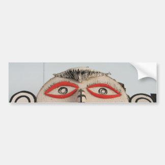 Thai Ghost Face, Phi Ta Khon Mask Festival, Loei Bumper Sticker
