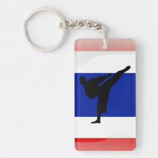 Thai glossy flag key ring