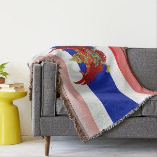 Thai glossy flag throw blanket