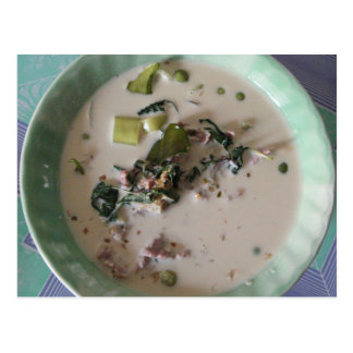 Thai Green Curry [แกงเขียวหวาน] ... Asian Food Postcard