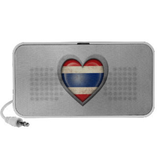 Thai Heart Flag Stainless Steel Effect Portable Speakers