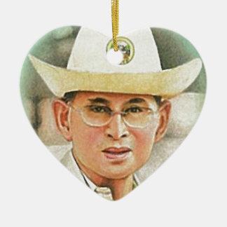 Thai King Bhumibol Adulyadej - ภูมิพลอดุลยเดช Ceramic Ornament