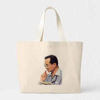 Thai King Bhumibol Adulyadej - ภูมิพลอดุลยเดช Large Tote Bag