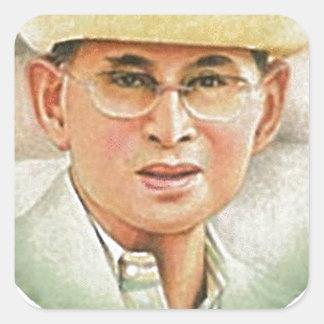 Thai King Bhumibol Adulyadej - ภูมิพลอดุลยเดช Square Sticker