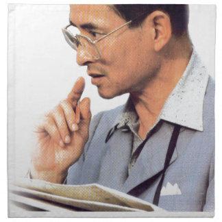 Thai King Bhumibol Adulyadej Napkin