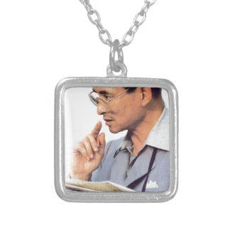 Thai King Bhumibol Adulyadej Silver Plated Necklace