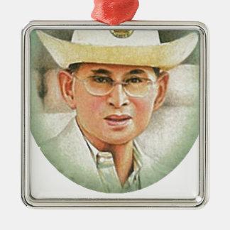 Thai King Bhumibol Adulyadej the Great Metal Ornament
