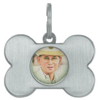 Thai King Bhumibol Adulyadej the Great Pet ID Tag