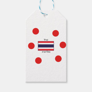 Thai Language And Thailand Flag Design Gift Tags