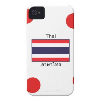 Thai Language And Thailand Flag Design iPhone 4 Cover