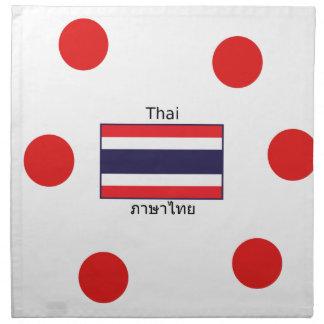 Thai Language And Thailand Flag Design Napkin