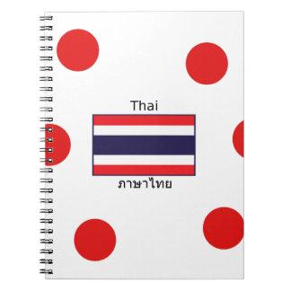 Thai Language And Thailand Flag Design Notebook