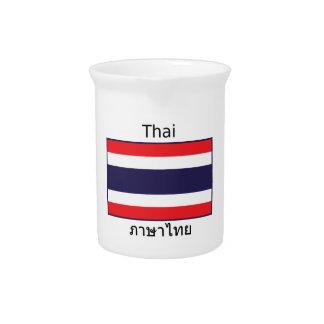 Thai Language And Thailand Flag Design Pitcher