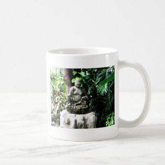 Thai Laughing Buddha in Garden Coffee Mug