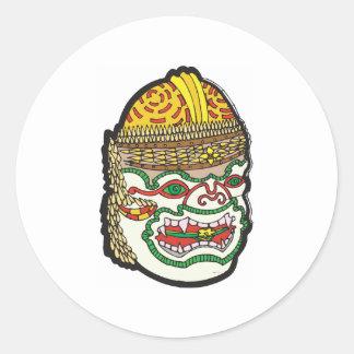 Thai Mask Classic Round Sticker