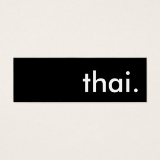 thai. mini business card