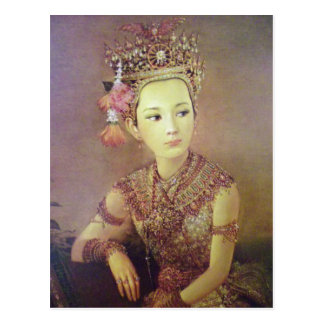 Thai portrait print postcard