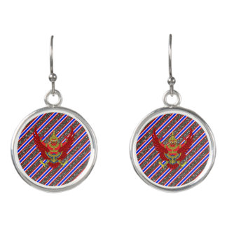 Thai stripes flag earrings