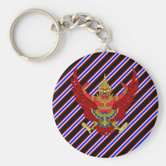Thai stripes flag key ring