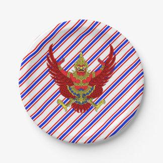 Thai stripes flag paper plate