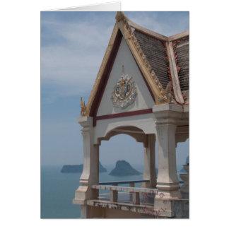 Thai Temple card. Card