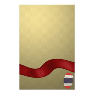 Thai touch fingerprint flag personalized stationery