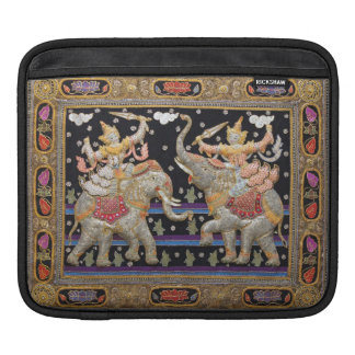 Thai Warriors Burmese Tapestry iPad Sleeve