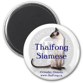 Thaifong Siamese 6 Cm Round Magnet